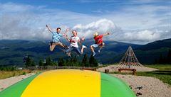 Špindlerův Mlýn. Zážitková dětská hřiště na vrcholcích hor a netradiční paddleborard