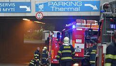Druhý stupeň poplachu. V podzemí Thermalu ve Varech hořelo, hotel byl evakuován