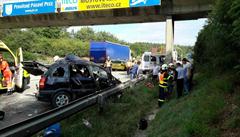 Hromadná nehoda zkomplikovala provoz na dálnici D1. Na místě jsou lehce zranění