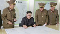 Kim Čong-un dostal plány útoku na americký Guam. Vyčká ale, co udělají Američané