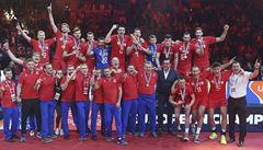 Volejbalové drama. Evropský titul vybojovali Rusové, slaví i poražení Němci