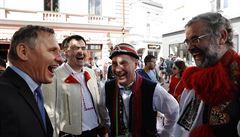Slovácké slavnosti vína se proměnily i v předvolební přehlídku politiků