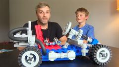 VIDEO: Fanoušek lega s pomocí 3D tiskárny vyrobil obří motokáru
