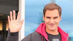 Mirka by mi tu mohla překládat, smál se po svém příjezdu do Prahy Federer