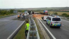 Omezení na D1 u Holubic skončilo. Kvůli nehodě trvalo dva dny
