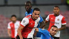 VIDEO: Zakopl o drn, penaltu ale stejně nedali. Feyenoord je v Lize mistrů k smíchu
