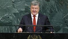 Porošenko chce vyslání mírových sil na Donbas. Kreml označil za dědice stalinismu