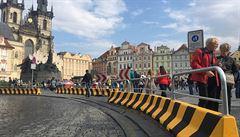 Ochrana proti terorismu. Praha umístila na Staroměstské náměstí betonové bloky