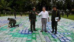 Kolumbijská policie zabavila drogovému kartelu rekordních 12 tun kokainu