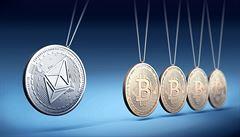 Konkurent bitcoinu láme rekordy.Cena etherea poprvé vystoupala nad 4000 dolarů