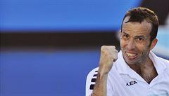 Štěpánek fandil tenistům z domova, u televize šlapal na rotopedu