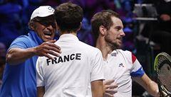Davis Cup: Francouzští tenisté zvládli čtyřhru, k 'salátové míse' jim chybí bod
