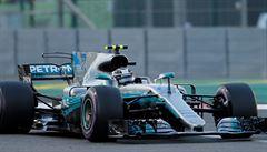 Kvalifikaci F1 opanoval Mercedes. Na trati se cítím skvěle, zářil vítěz Bottas