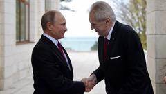 Zeman se v Soči setkal s Putinem. Litoval, že nepřivezl lebku svaté Ludmily
