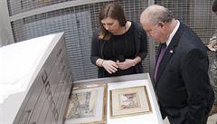 Žena nechtěla doma akvarel namalovaný Hitlerem, věnovala ho nizozemskému ústavu