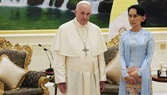 Papež se sešel se Su Ťij. Vyzval k respektování všech etnických skupin v Barmě
