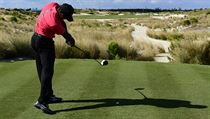 Tiger Woods na turnaji Hero World Challenge na Bahamách.