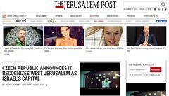 Česko následuje v postoji k Jeruzalému Trumpa, napsal izraelský deník. Ministerstvo to popírá