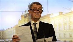 Babiš kritizuje vlastního ministra. Hüner měl podle něj vládu o memorandu jen informovat
