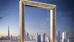 Pozlacený vyhlídkový rám. V Dubaji otevřeli nový unikát