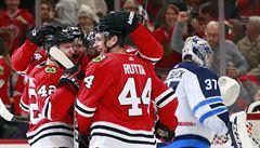 NHL: Kämpf s Ruttou zařídili výhru Chicaga nad Winnipegem 2:1