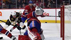 NHL: Pastrňák se třemi body podílel na výhře Bostonu v Montrealu