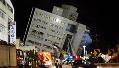 Zemětřesení na Tchaj-wanu má mrtvé, mezi zraněnými jsou i Češi