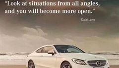 Mercedes se omluvil Číně za reklamu s citátem o dalajlamovi