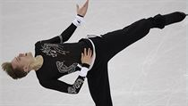 Michal Brezina of the Czech Republic performs during the men's short program figure skating in the Gangneung Ice Arena at the 2018 Winter Olympics in  ...