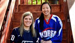 Hokejové sestry jako soupeřky. Jedna válčí za Koreu, druhá za USA