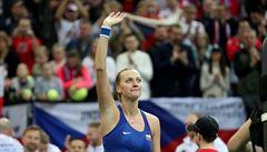Kvitová poslala Češky do semifinále Fed Cupu. Snadno si poradila s Bencicovou