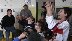 FOTO: Fandilo se v ulicích, školách i hospodách. Češi ale stejně na ruského rivala nestačili