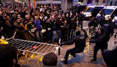 V Barceloně demonstrovali separatisté proti návštěvě španělského krále