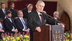 DOKUMENT: Přečtěte si inaugurační projev prezidenta Miloše Zemana