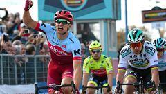 Kittel na Tirrenu zdolal ve spurtu hvězdného Sagana a slaví první výhru v sezoně