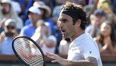 Federer v Indian Wells zvládl dohrávku, Djokovič naopak vypadl
