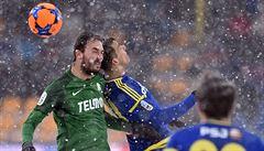 Sněhový duel rozjetých rivalů ovládl na Šumavě Jablonec. Jihlavě nadělil čtyři góly