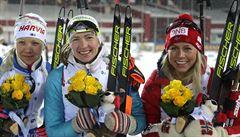 Domračevová vyhrála v Ťumeni sprint, Kuzminová vybojovala malý glóbus