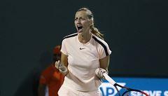 Kvitová zvítězila nad Keninovou v Miami. Po třísetové výhře se dostala do osmifinále