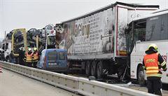 Dálnici D1 u Brna blokovala pět hodin nehoda. Zranilo se při ní pět lidí