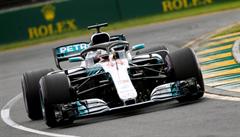Kvalifikaci na Velkou cenu Austrálie vyhrál v rekordu Hamilton