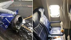 Podtlak vytáhl ženu za letu po pás ven. K nehodě boeingu ale nemuselo dojít, úřady o vadě motoru věděly
