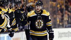 NHL: Pastrňák prožil mimořádný večer. K hattricku přidal tři asistence
