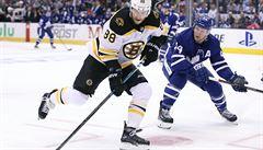 NHL: Pastrňák asistoval u výhry Bostonu, jediný gól poražených vstřelil Plekanec