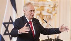 Zeman na oslavách podpořil přesun ambasády do Jeruzaléma. V plánu je konzulát a České centrum