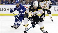 NHL: Pastrňák si proti Tampě připsal čtyři asistence a vede bodování play-off