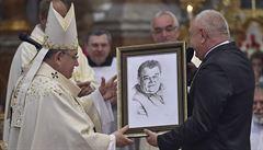 Duka slavil 75. narozeniny v Polné na Jihlavsku. Odsloužil mši a debatoval s veřejností