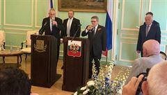 Rusko oslavilo Den vítězství i na pražské ambasádě. Společně se Zemanem, Klausem či Nečasem