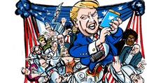 Donald Trump versus establishment,.