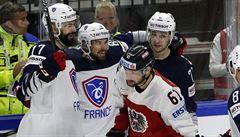 MS v hokeji: Dánové jsou blízko čtvrtfinále, Francii táhl k výhře pardubický Treille